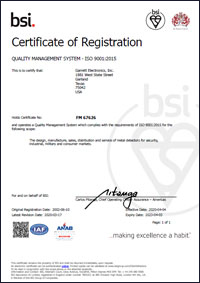 Garrett ISO 9001 Certification