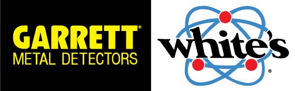 Detectores de metais Garrett e logotipo da White
