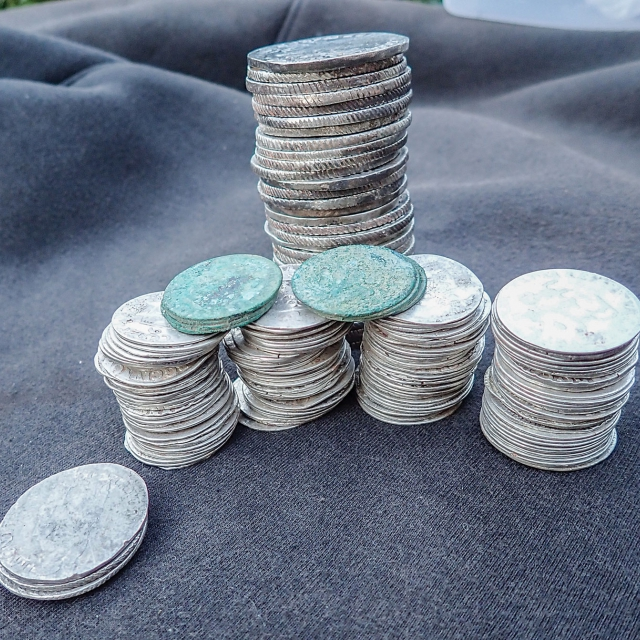 Silver Hoard of 177 Coins, found by Co B.